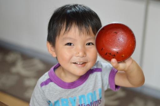 完食 子ども 子供 こども 男の子 ピカピカ ご飯 パスタ 給食 日本人 笑顔
