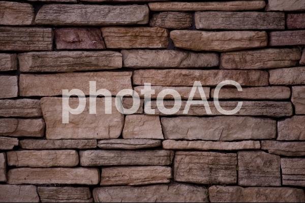 背景素材(石積み風)の写真