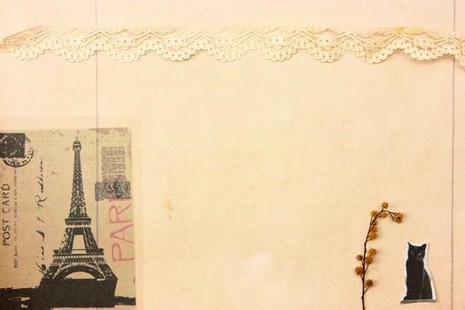 マスキングテープ 紙 メモ クラフト フレーム 余白 カラフル ポップ 額 額縁 バックグラウンド 背景 背景素材 枠 雑貨 手紙 レター ステーショナリー 道具 ライフスタイル コラージュ デコ カード スクラップブッキング デザイン アート 楽しい 明るい 破る ちぎる 切り抜き テキストスペース コピースペース シール レース リボン ポストカード 外国 黒猫 エッフェル塔 猫 ドライフラワー 花 茶色 クラフト紙