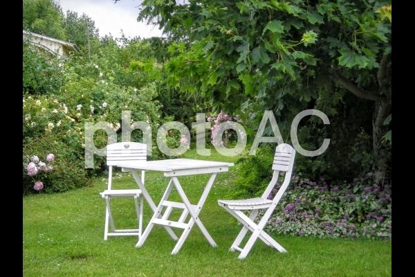 北欧の庭から、アウトドアチェアの写真