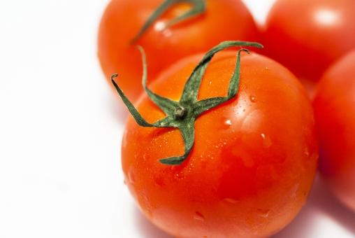 トマト 完熟 真っ赤 野菜 果物 健康 美容 新鮮 みずみずしい 白バック