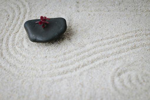 和 和風 禅イメージ 庭 石 枯山水 砂 砂紋 レーキ 日本 日本庭園 日本文化 庭園 わびさび 和寺 石庭 造園 伝統 白砂 風景 イメージ 京都  縁側 風景 花 植物