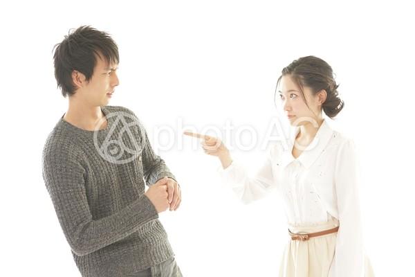 喧嘩中のカップル3の写真