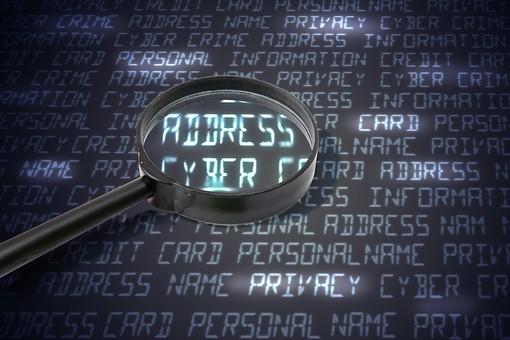 パソコン PC 画面 ディスプレイ 文字 英語 英字 ハッカー ハッキング フィッシング サイバー攻撃 インターネット 不正アクセス アクセス パスワード セキュリティ 犯罪 違法行為 個人情報 漏えい 流出 ルーペ 虫眼鏡 拡大鏡 アップ 合成 プライバシー 保護 ネット犯罪
