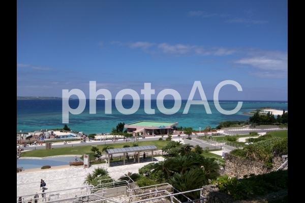沖縄のエメラルドビーチの写真