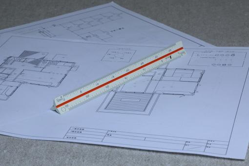 三角スケール 測定器 物差し ものさし 定規 計測 縮尺 製図 図面 測定具 設計 設計図
