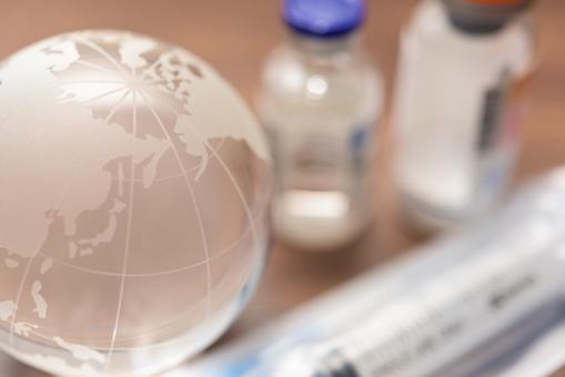注射薬 注射 世界 バイアル 地球 アース 感染症 貧困 医療 助ける 寄付 支援 シリンジ クスリ 社会問題 薬 日本 未来 治療薬 治療