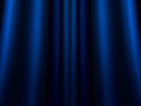 ゴージャスな青いカーテンの背景素材の写真