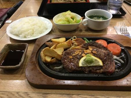 沖縄 空港 旅行 アメリカ サーロイン 食事 肉 牛 牛肉 ご飯 セット
