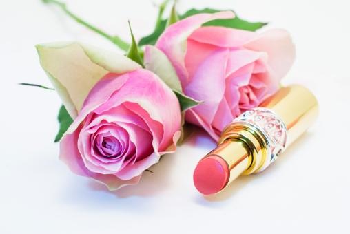 口紅 リップスティック リップ ピンク色 バラ ローズ 植物 花 コスメ 女性 バラ色 オーガニック 化粧品