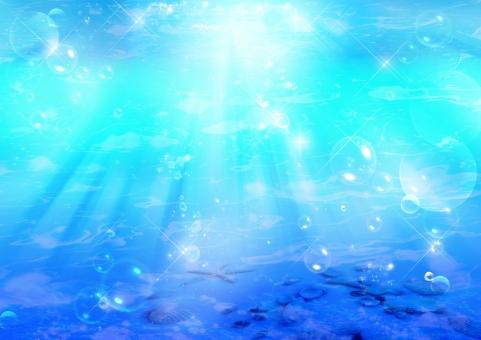 人魚姫の海の泡の写真