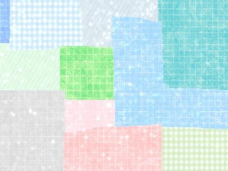 壁紙 背景 テクスチャ チェック ギンガムチェック ストライプ 星 春 3月 4月 5月 6月 かわいい 可愛い カワイイ ガーリー パステルカラー ふんわり 布 紙 テクスチャー 雑貨 カラフル テキスタイル ピンク 水色 キラキラ コラージュ 雑貨 クラフト
