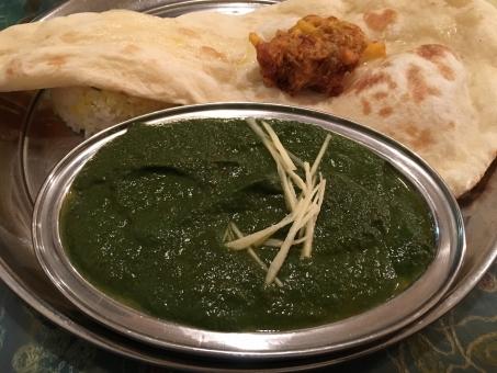 カレー ナンカレー カレーセット インド料理 ほうれん草のカレー ほうれんそうのカレー