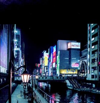 大阪 夜景 大阪ミナミ 戎橋 大阪 夜景
