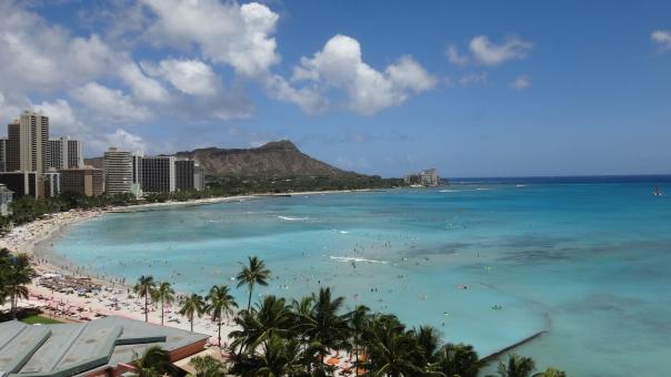 ハワイ ワイキキ ワイキキビーチ ダイヤモンドヘッド バカンス 南国 waikiki waikiki-beach beach hawaii aloha diamondhead honolulu sheraton-waikiki