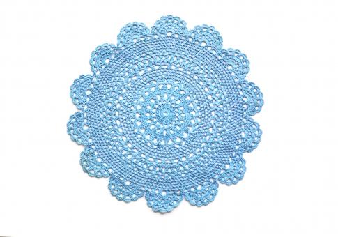 レース レース編み レース素材 円 かわいい ロマンティック ガーリー 白バック かぎ針編み クラシック ドイリー 青 ブルー 背景 背景素材 模様 柄 素材 装飾 エレガント