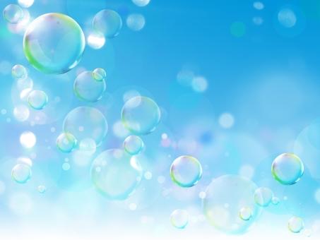 シャボン玉のイメージ背景の写真