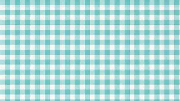 布 柄布 ハンカチ ファブリック ファイバー 繊維 柔らかい テクスチャー 背景 背景画像 チェック ギンガムチェック 格子 格子模様 染色 染め布 水色 シアン 青緑 浅葱 ビビッド