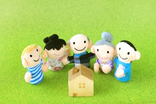 家族と家の小物の写真