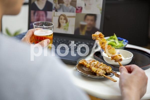 オンライン飲み会の写真