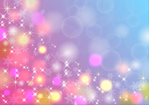 紫 青 ピンク 水色 カラフル イルミネーション 聖夜 クリスマス 星 結晶 雪結晶 雪の結晶 スノー スター 光 光彩 彩り 輝き キラキラ テクスチャ テクスチャー 背景 背景素材 デザイン キラキラ 冬 グラデーション カラー 幻想的 ライト バックグランド バックグラウンド 幻想的 デザイン テキストスペース 文字スペース 模様 丸