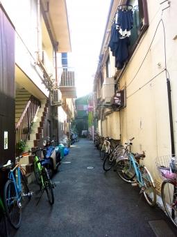 東京 品川区 tokyo 16 道路 ストリート 自転車 アパート 洗濯物 庶民的 生活感