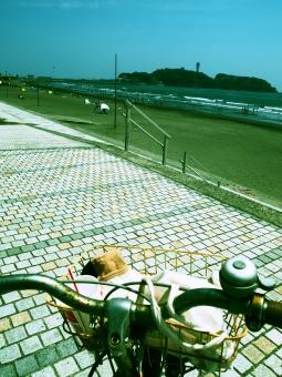 海辺 チャリ 自転車 stroll bike bicicle enoshima 散歩 take a walk sea seaside ocean oceanside beach summer 夏