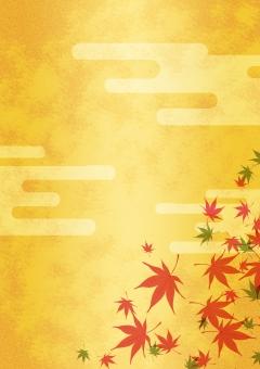 背景 背景素材 バックグラウンド テクスチャ テクスチャー 紅葉 秋 金箔 和柄 雲 伝統的な 葉 オータム 行楽 日本的な 日本の 赤い 紅 ゴールド 金 金屏風 京都 落葉樹 名所 見物 ツアー 紅葉前線 趣のある 落ち着きのある 和む