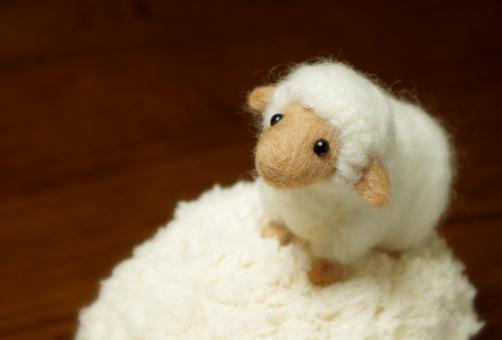羊毛フェルト ふわふわ 干支 十二支 年賀状 ひつじ 羊 未 ヒツジ 白 お正月