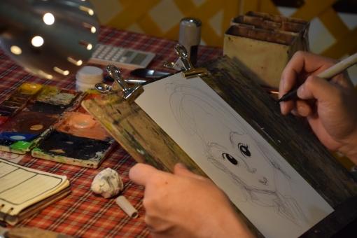 似顔絵 絵 描く 絵描く 人物画 顔 マンガ 漫画 まんが 水彩 習い事 大人の習い事 お絵かき お絵描き 絵かき 絵描き