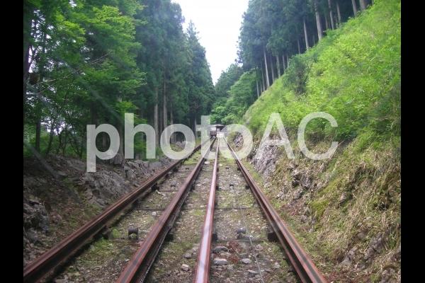 トロッコの線路の写真