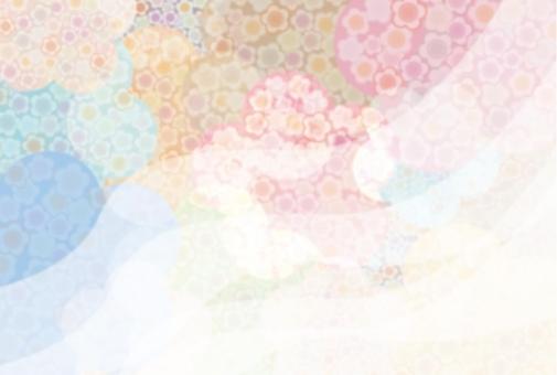 梅の和柄フレームの写真