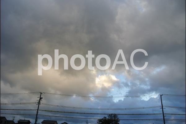 雪雲の写真