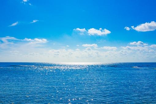 水平線 日本海の写真