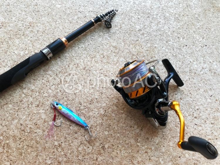 ルアーの釣り道具の写真