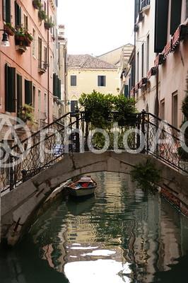 イタリア ベネツィア 水路の風景12の写真
