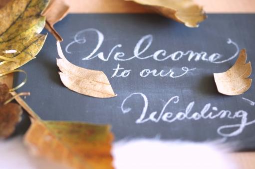 秋 ウェルカムボード ウェディング 結婚式 結婚 ブライダル マリッジ 披露宴 会場 飾り 落ち葉 オータム イベント 季節 シーズン 羽 葉っぱ リーフ
