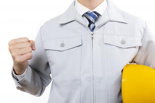 作業服の男性の写真