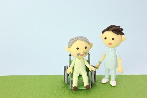 クレイ クレイアート クレイドール ねんど 粘土 クラフト 人形 アート 立体イラスト 粘土作品 かわいい 人物 仕事 働く 医療 福祉 介護 看護士 男性 白衣 病院 診察