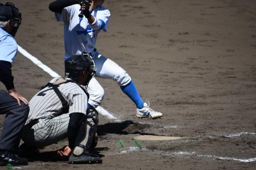 野球 打席の写真
