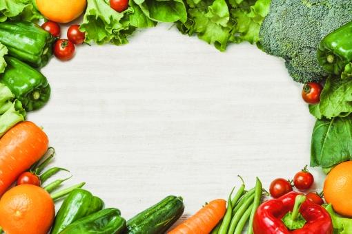 野菜のフレームの写真