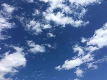 空 青空 青 澄んだ 爽やか 青天井 晴れ 天 雲 夏 春