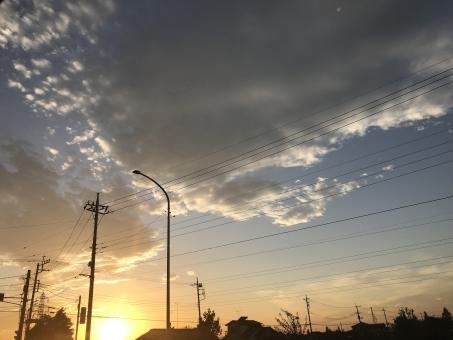 燃える太陽の写真