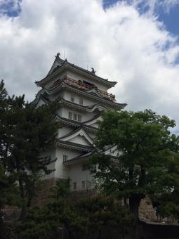 お城 空 和風 建築 建物 しろ キャッスル 殿様 殿 とのさま との 侍 さむらい サムライ 江戸時代 日本 日本建築 昔