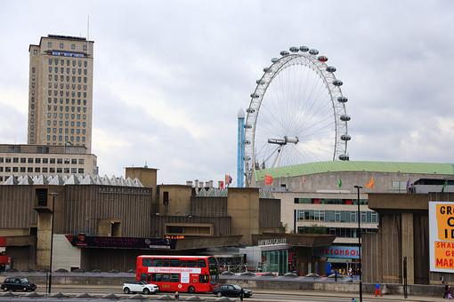 外国 ロンドン 観覧車 観光 建物 風景 観光バス
