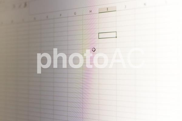 表計算ソフトの写真