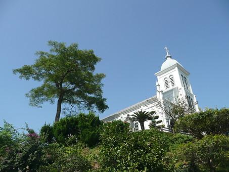 カトリック教会 大江天主堂 天草市 熊本 庭