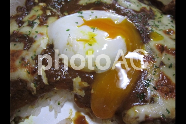 半熟卵の写真