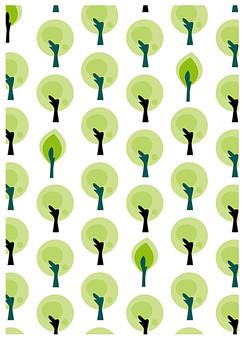背景 テクスチャ テクスチャー バックグラウンド 背景素材 アップ 模様 正面  ポスター グラフィック ポストカード 柄 デザイン 素材  フレーム 装飾  全面 飾りつけ 北欧風 樹 葉っぱ 葉 植物 樹木 森 緑 白