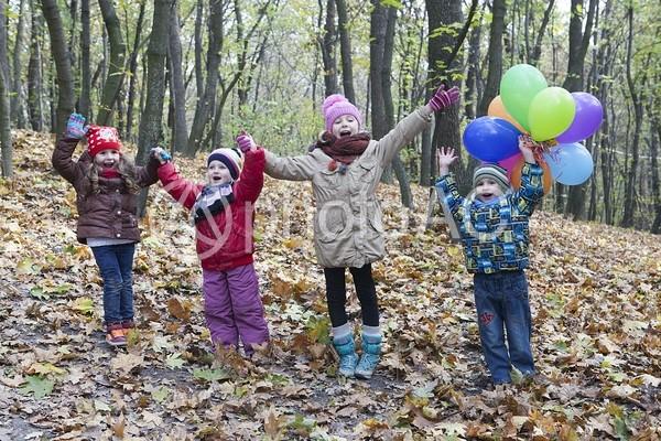 森にいる子どもたち3の写真